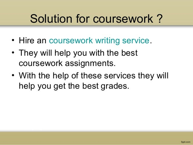 A Coursework Writing Service You Exactly Need