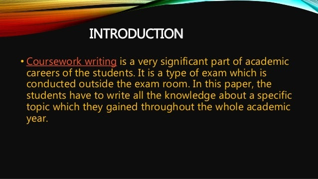 Coursework writers
