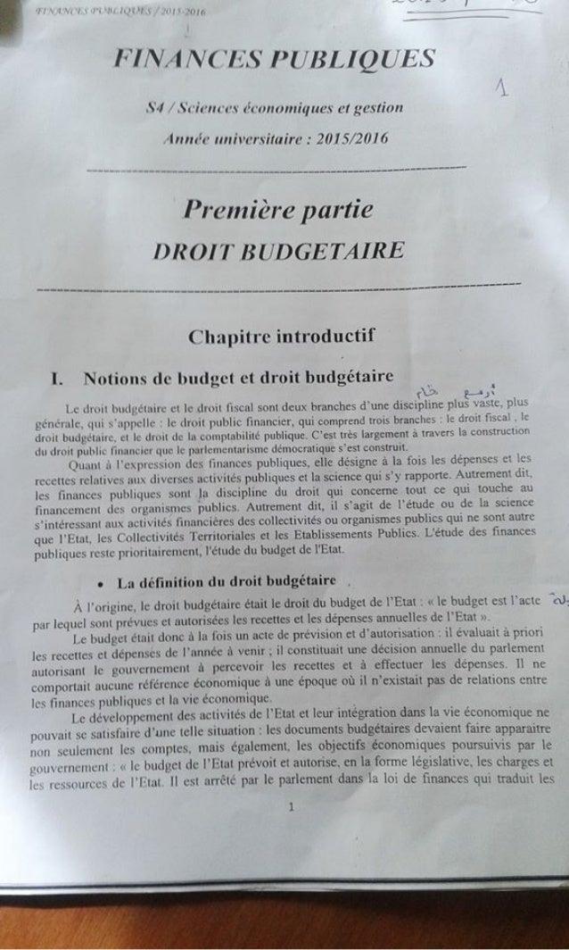Cours finance publique s4