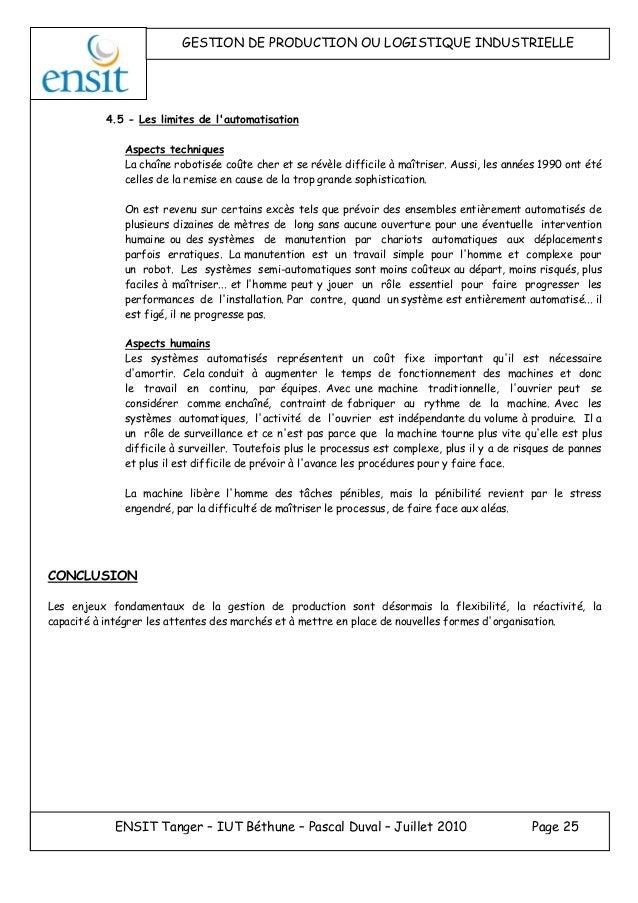 cours gestion de production pdf