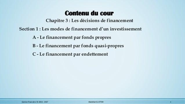 cours gestion financi re s5 economie et gestion