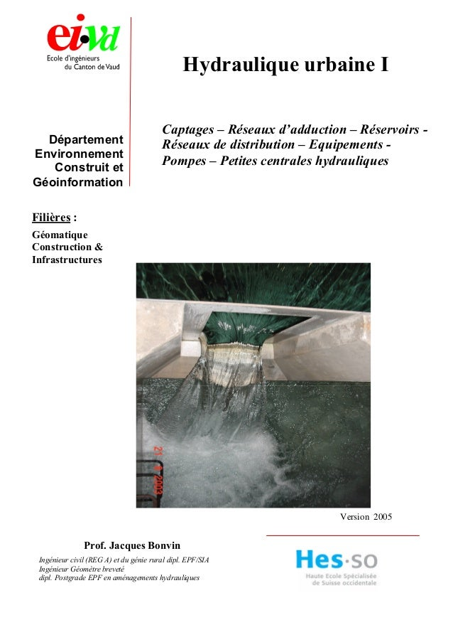 Département Environnement Construit et Géoinformation Filières : Géomatique Construction & Infrastructures Version 2005 Hy...