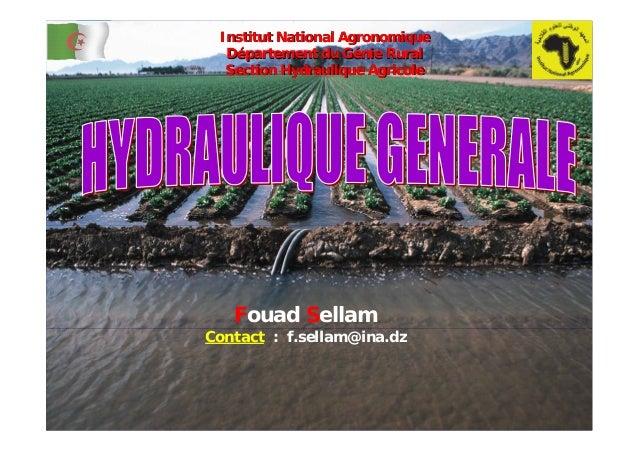 Fouad SellamContact : f.sellam@ina.dzInstitut National AgronomiqueInstitut National AgronomiqueDDéépartement du Gpartement...