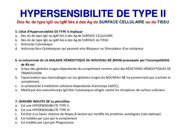 Cours hypersensibilité ii et iii quiz medecine 2017 Slide 3