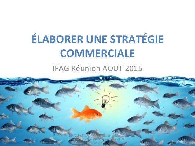 ÉLABORER  UNE  STRATÉGIE   COMMERCIALE   IFAG  Réunion  AOUT  2015   Remy  Exelmans  -‐  www.oceans...