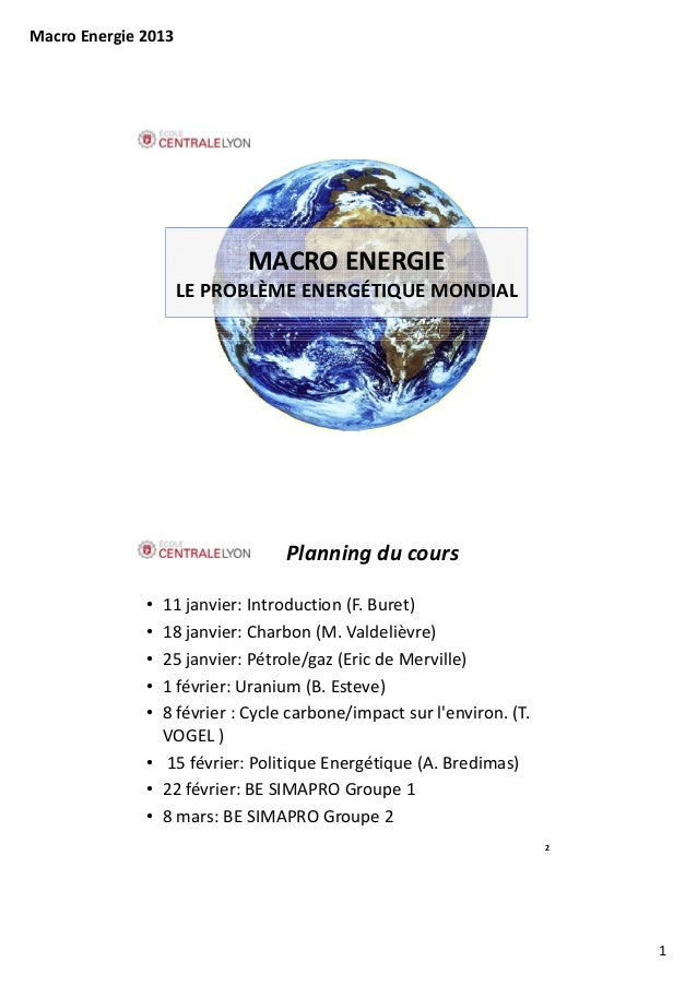 MacroEnergie2013                            MACROENERGIE                     LEPROBLÈMEENERGÉTIQUEMONDIAL           ...