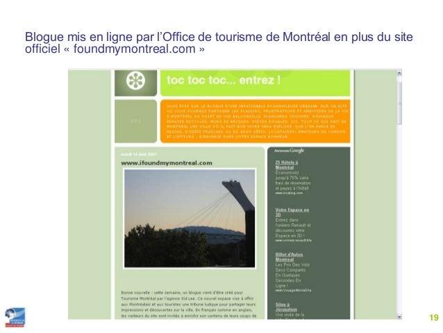 Cours master 2 pro tourisme 2 0 2014 - Office de tourisme montreal canada ...