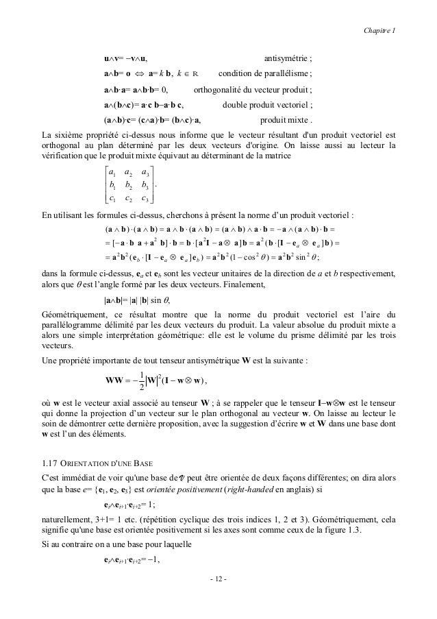Chapitre 1alors elle est dite orientée négativement (left-handed en anglais); une telle base serait par exemplecelle de la...
