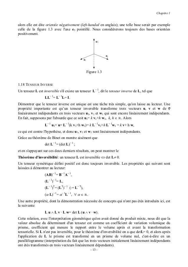 Chapitre 1Une conséquence immédiate de la dernière formule est que                  L u ∧ L v = (det L) (L− 1 )T(u ∧ v).1....