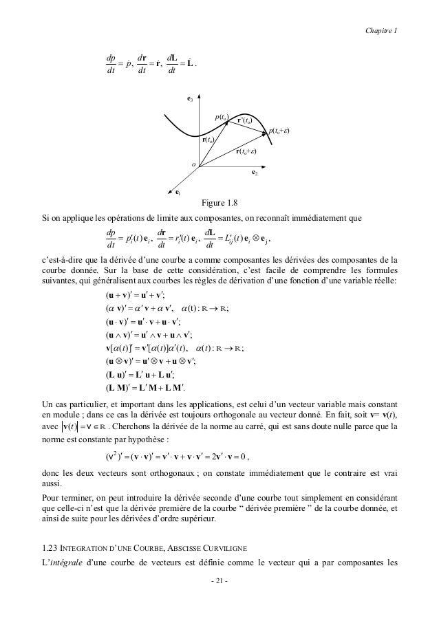 Chapitre 1intégrales de chaque composante du vecteur donné :                                      b                     b ...