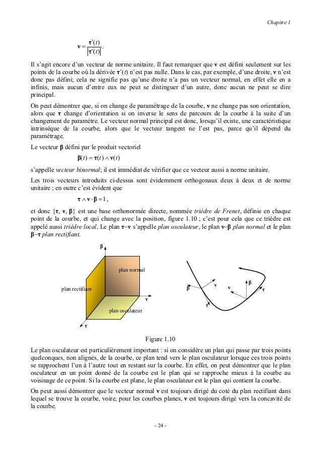 Chapitre 11.25 COURBURE D'UNE COURBEIl est important, dans plusieurs cas, de pouvoir évaluer de combien une courbe s'éloig...