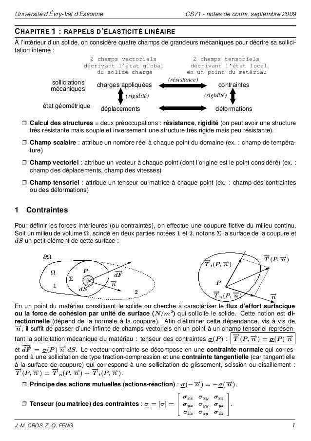 Université d'Évry-Val d'Essonne                               CS71 - notes de cours, septembre 2009C HAPITRE 1 :      RAPP...