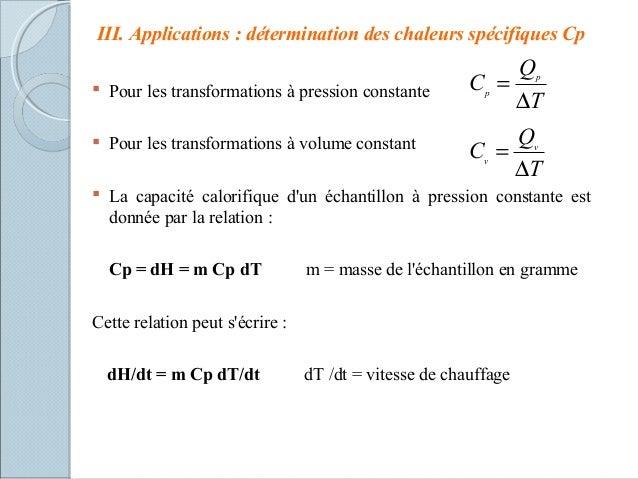 Cours m thodes thermiques - Formule calcul puissance chauffage ...