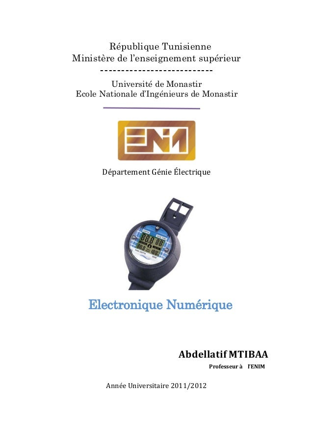 République TunisienneMinistère de l'enseignement supérieur---------------------------Université de MonastirEcole Nationale...