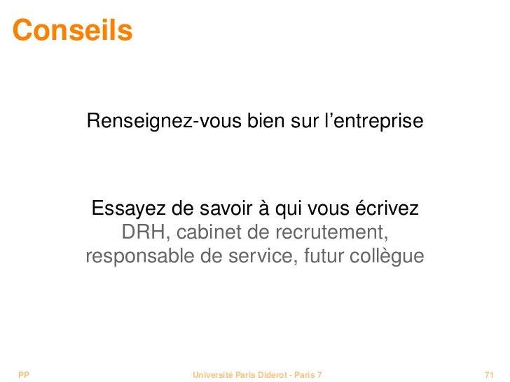 Cours pr paration au monde professionnel - Entretien cabinet de recrutement questions ...
