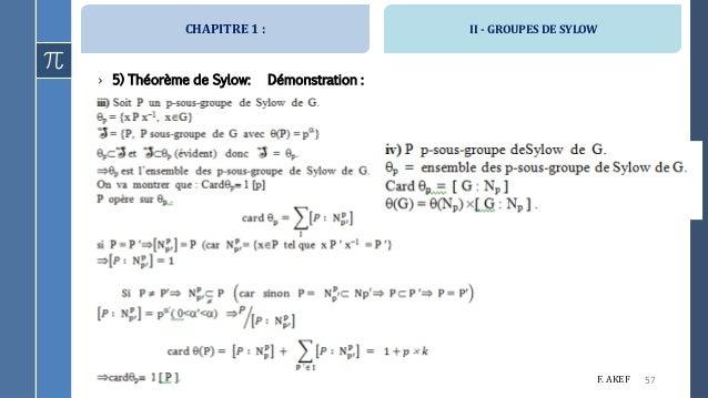 THEOREME DE SYLOW PDF