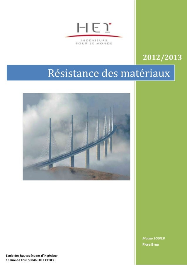 2012/2013                            Résistance des matériaux                                              Mouna SOUISSI  ...