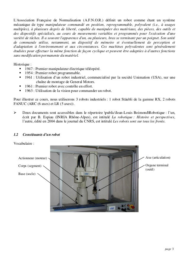 Cours robotique Slide 3