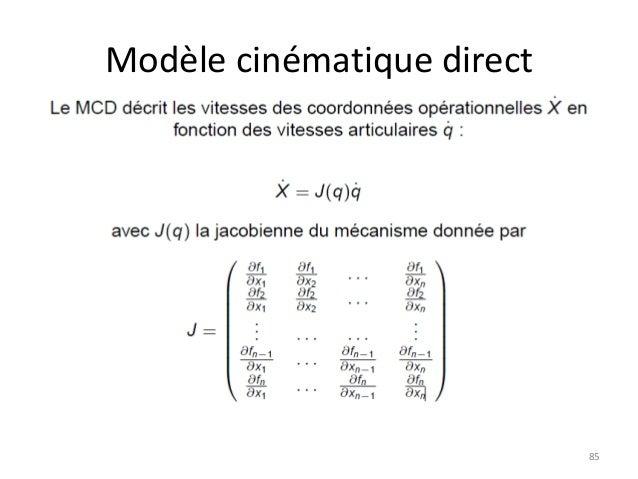 Modèle cinématique direct  85