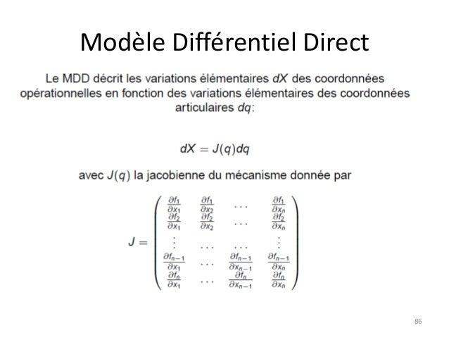 Modèle Différentiel Direct  86