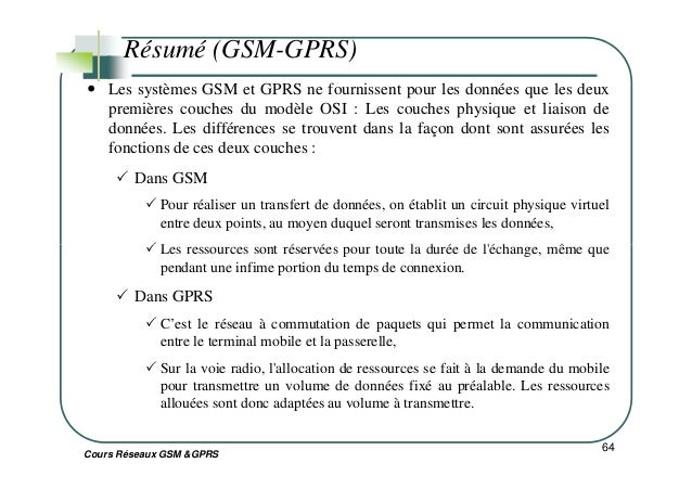 Gsm resume sample