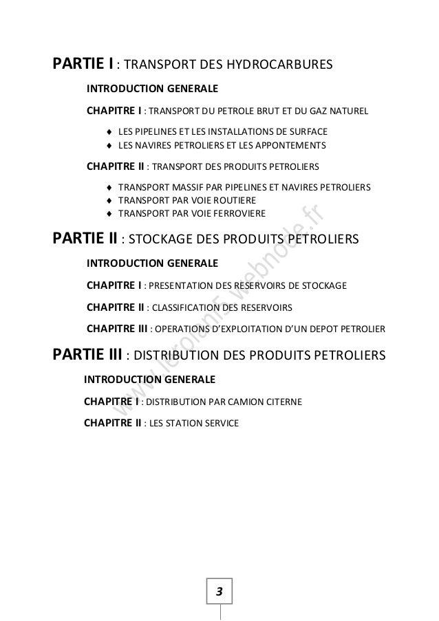 Cours de Stockage Distribution des Hydrocarbures Slide 3