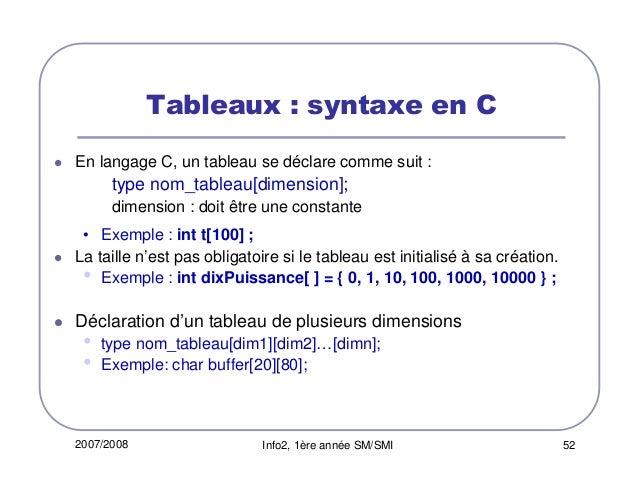 COURS DES TABLEAUX EN LANGUAGE C EPUB