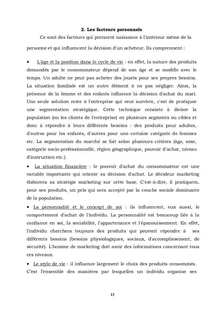 les facteurs qui influence le comportement du consommateur pdf