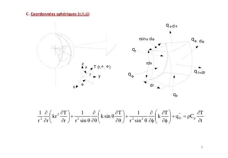 d 2T          0 (k constante) dx 2 T(x )    c1x c 2                         xT( x )    Ts , 2 Ts ,1     Ts ,1             ...