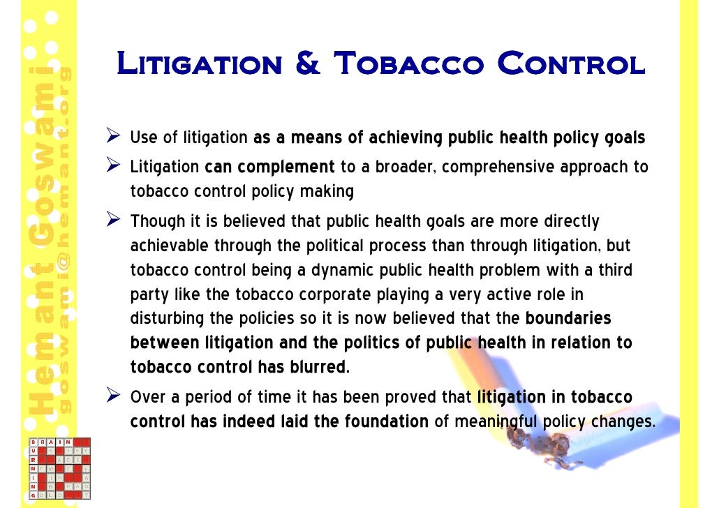 The case of wigand against tobacco companies and smoking