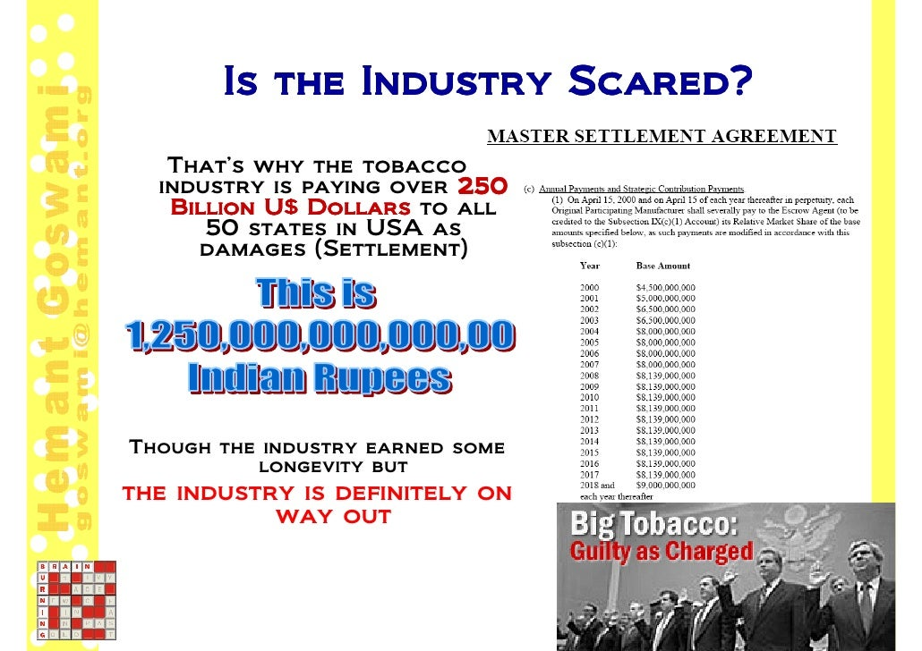 Court Cases Against Tobacco Industry