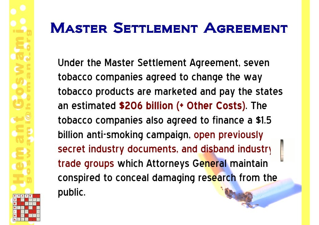 Master Settlement Agreement | Master Settlement Agreement Stunning