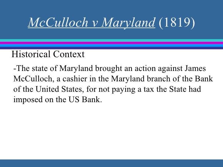 McCulloch v. Maryland | law case | Britannica.com
