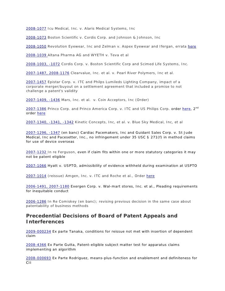 Court Decisions 2009 Last Updated 2010 04 23