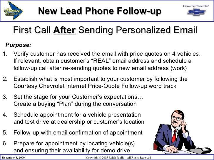 follow up sales call