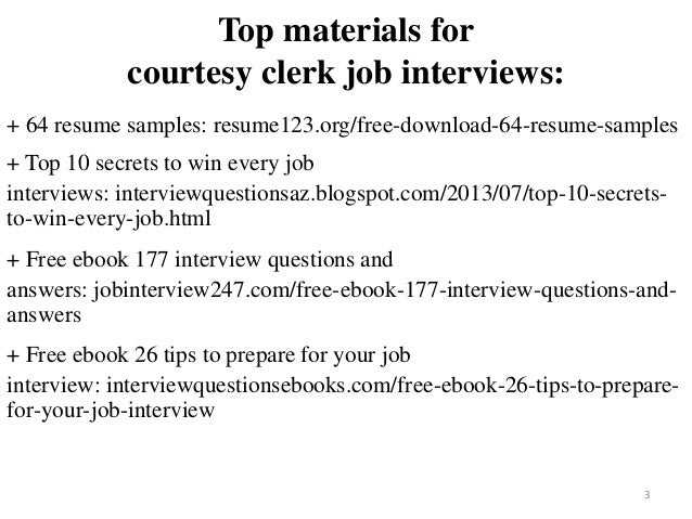 2 3 Top Materials For Courtesy Clerk