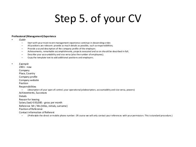 Courtesy Masters CV Example: Create your Effective Personal CV