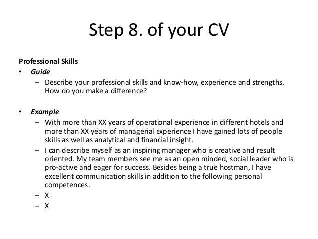 SlideShare  How To Describe Yourself On A Resume