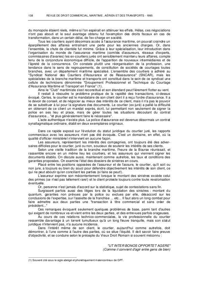 Courtier d 39 assurances maritimes - Chambre syndicale des notaires ...
