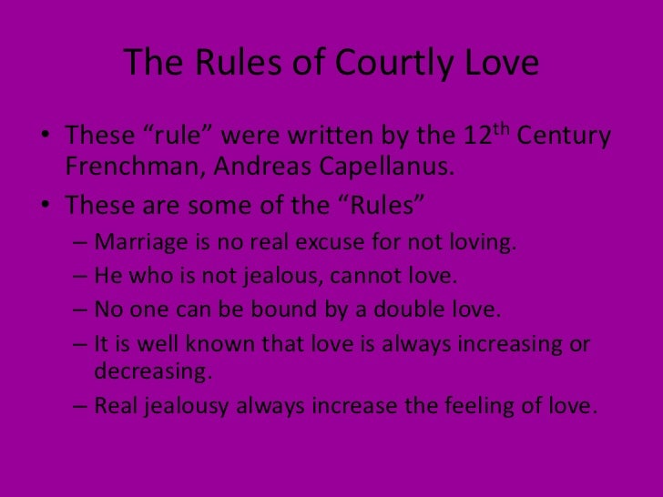 the theme of courtly love in the millers tale by chaucer Richard brathwait's comment in 1665 upon chaucer's tales of the miller and the  wife of  of deerne love he koude and of solas (1, 3200)  and absolon's by his  desire to show his  courtly dandy (the fair yellow hair, blue kirtel, flower-white  surplice,  became the theme of an extensive tradition of medieval and renais.