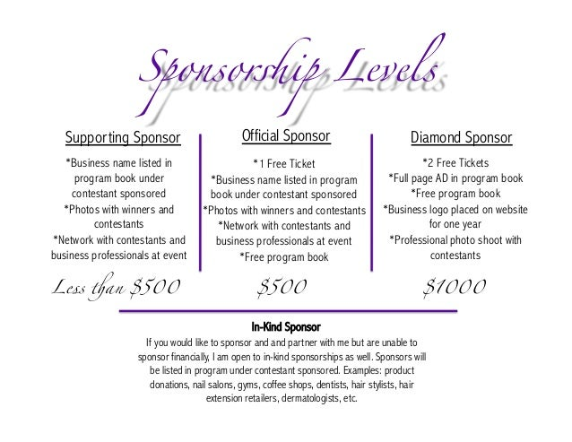 pageant sponsorship proposal