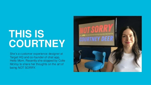 Sorry, Not Sorry Event with Courtney Deer Slide 2