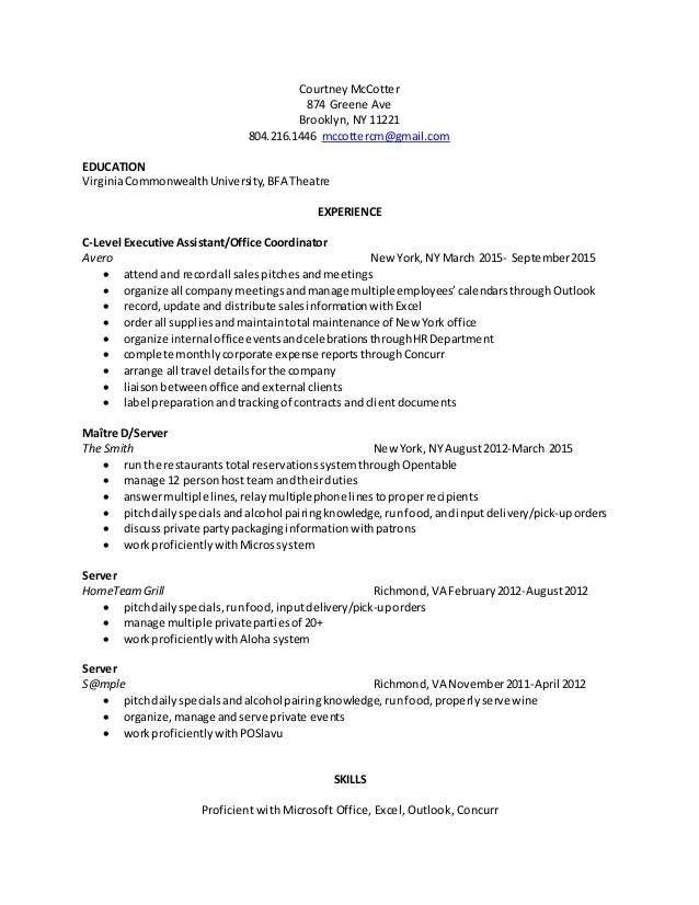 Cool Restaurant Maitre D Resume Contemporary - Example Resume ...