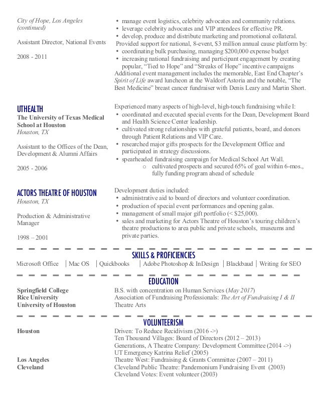 non profit director resume reentrycorps