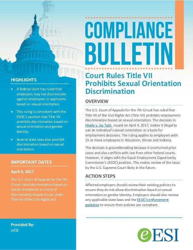 Types of sexual orientation discrimination illinois