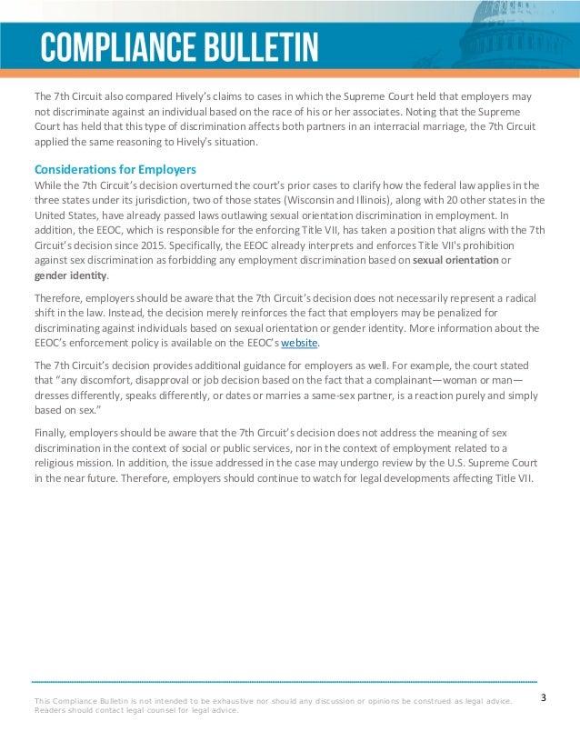 Types of sexual orientation discrimination cases