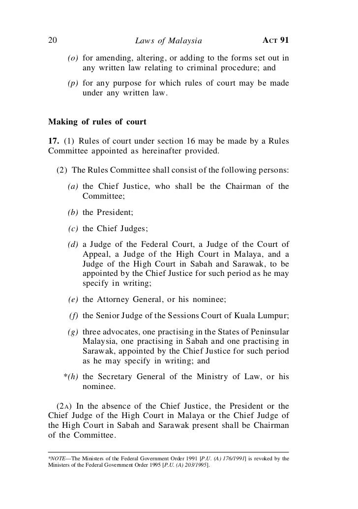 Courts Of Judicature Act 1964 Act 91