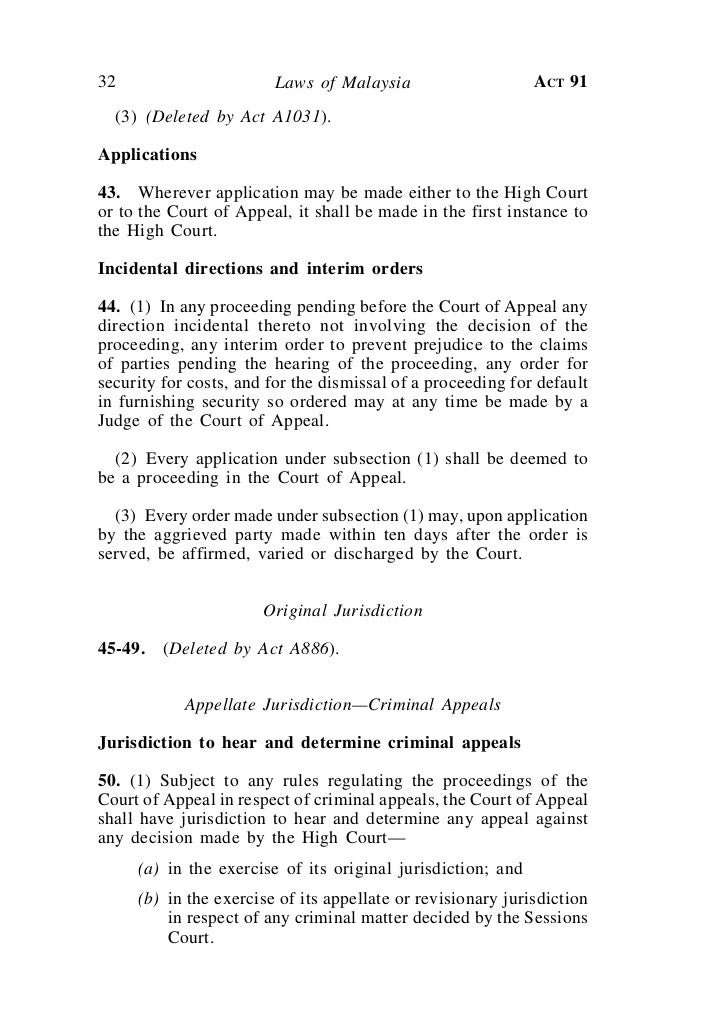 judicature and application of laws act Courts of judicature act 1964 act 91 1 laws of malaysia reprint act 91 courts of judicature act 1964incorporating all amendments up to 1 january 2006 published by the commissioner of law revision, malaysia under the authority of the revision of laws act 1968 in collaboration.