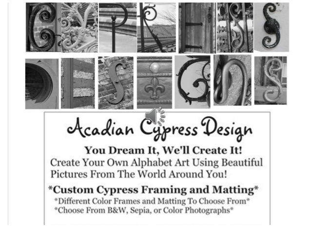The Courtyard Gifts and Interiors, Acadian Cypress Designs\' Alphabet …