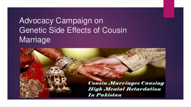 Awareness campaign on Cousin marriage